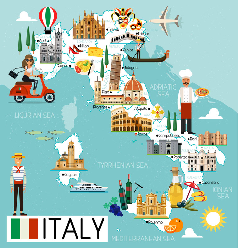 Sperrgebiete Italien Karte